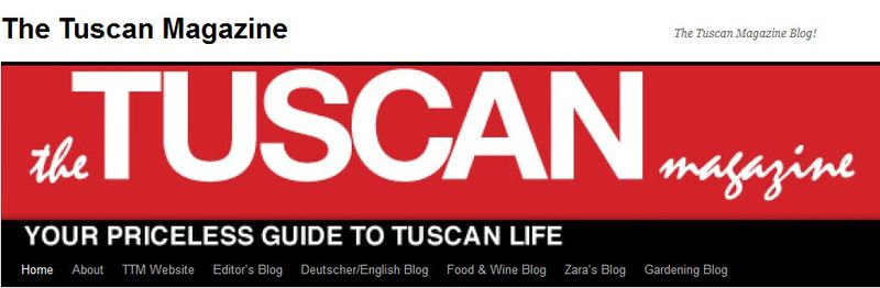 Tuscan magazine blog header