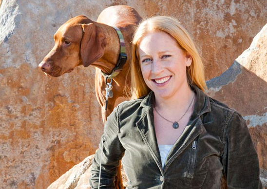 Carissa mondavi with dog