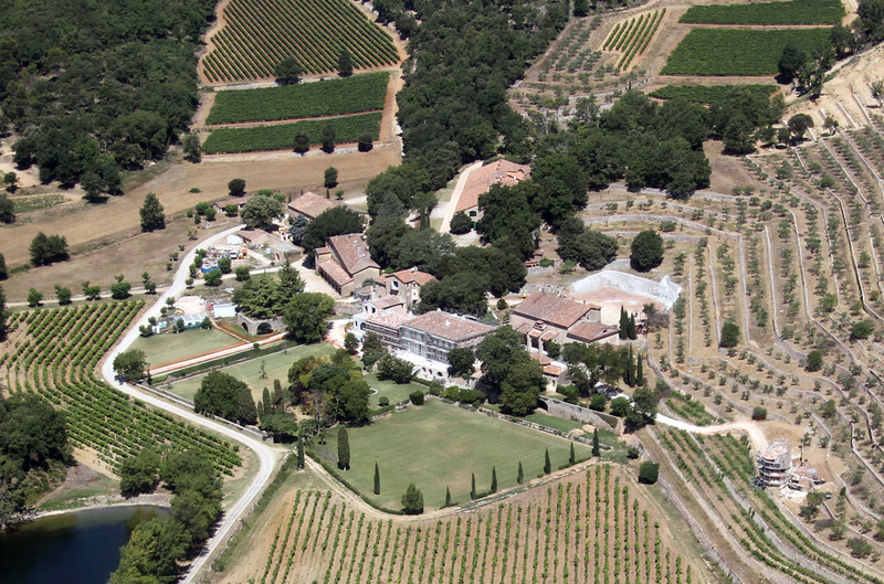 Chateau Miraval in Provence vineyards