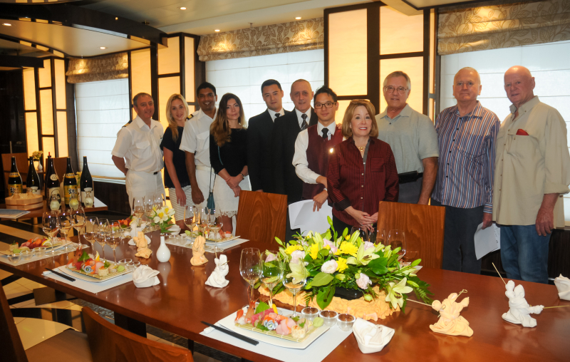 Group Sake tasting on Diamond Princess July2016