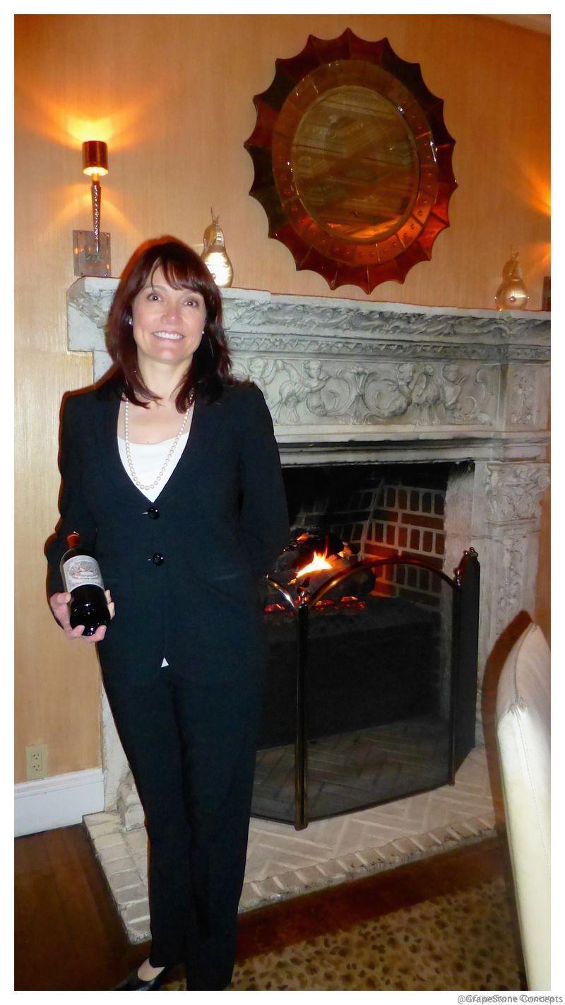 Jennifer Eby at Mansion fireplace march 2015