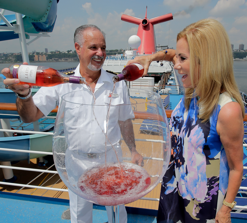Kathy Lee Gifford rose on Carnival Cruise lines