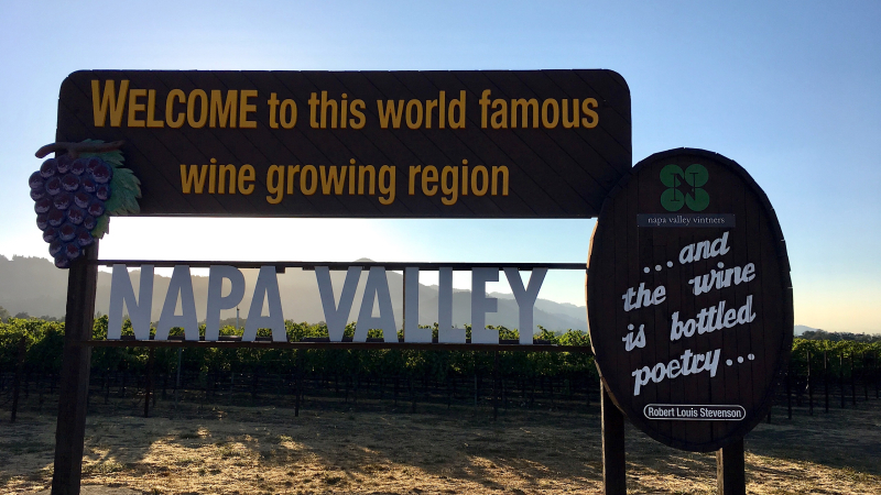 Napa Valley World famous wine sign edited  Linda Spina