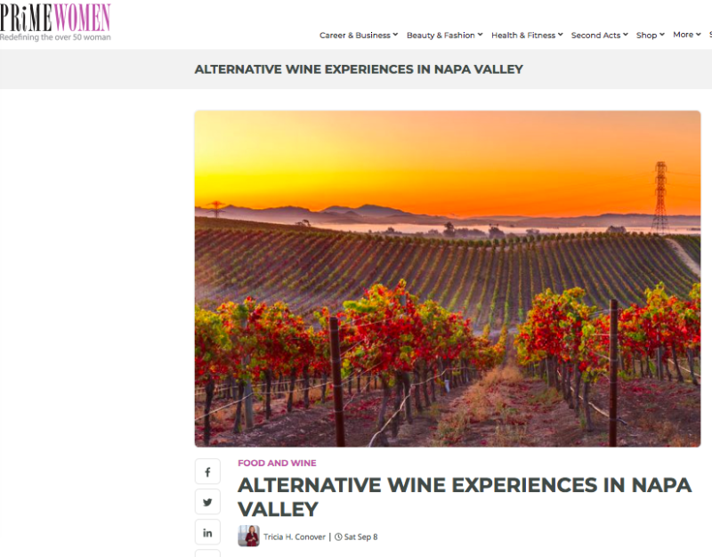 Alternative wine napa front page